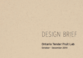 Design Brief_Ontario Tender Fruit Lab